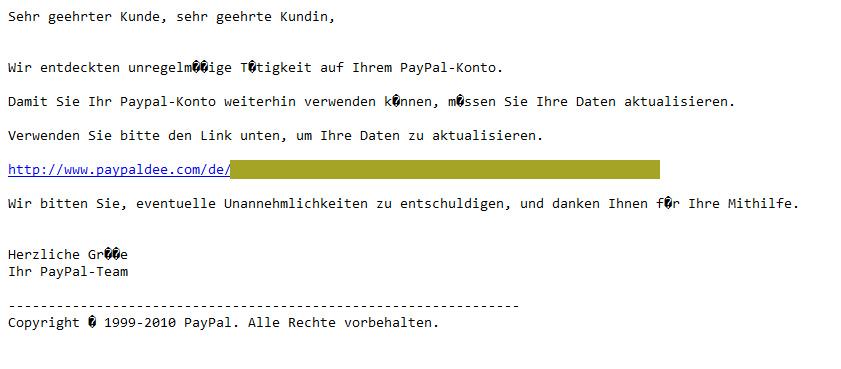 Falsche Mail Von Paypal